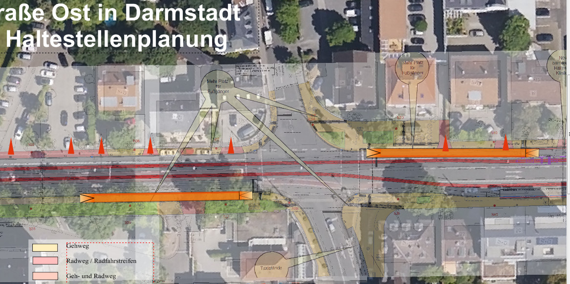 Haltestelle Klinikum, alternative Planung